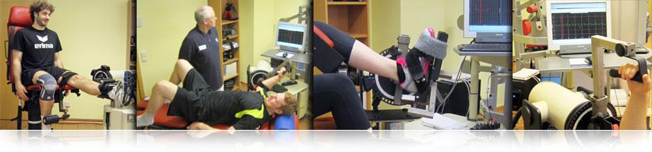 Isokinetik bestimmt muskuläre Defizite